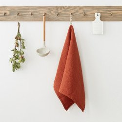 Baked clay kitchen towel linen