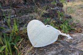 Zachte scrubspons loofah, hartvorm