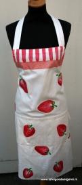 Schort aardbei rood wit