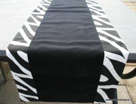 tafelloper black applique Zebra