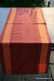 tafelloper orange zig zag