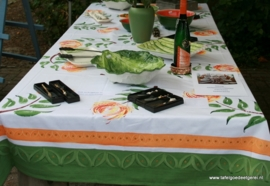 tafelkleed protea sage green