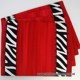 Placemat red zebra