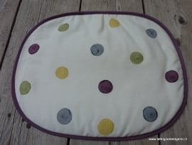 Placemat wabi sabi polka dot on cream