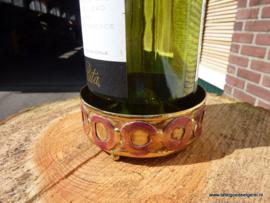 Wijnflesonderzetter koper  rood