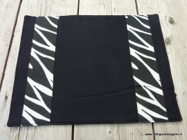 Placemat black applique  zebra