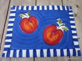 Placemat apple blue