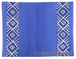 Placemat blue geometric