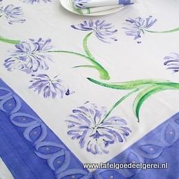 tafelkleed agapanthus blue