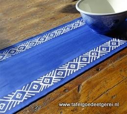 tafelloper blue geometric
