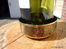 Wijnflesonderzetter koper  zwart