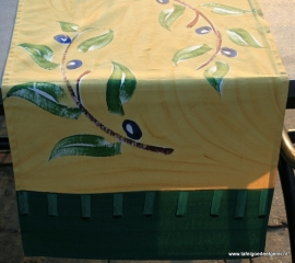 tafelloper green & ochre olive