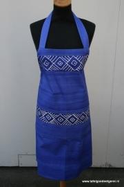 Schort geometric blauw