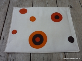 Placemat retro ball orange brown