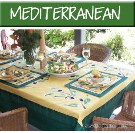 tafelkleed green & ochre olive