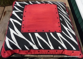 Kussenhoes rood zebra