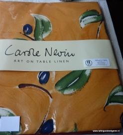 tafelkleed terracotta  & seed olive