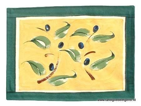 Placemat green ochcre olive