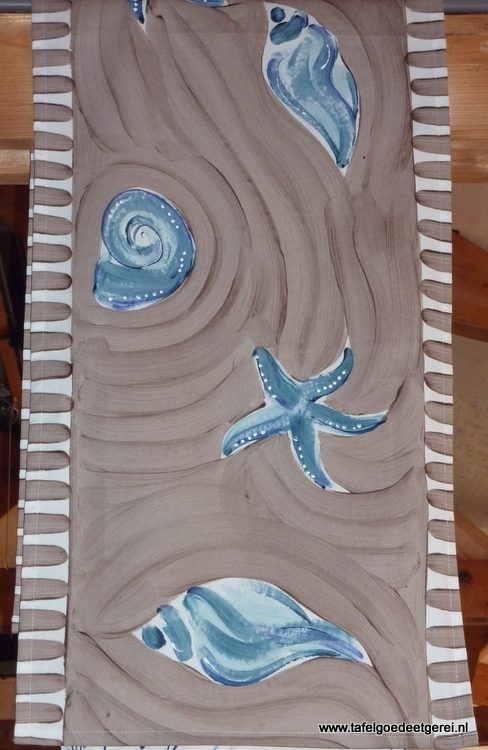 tafelloper taupe blue shell