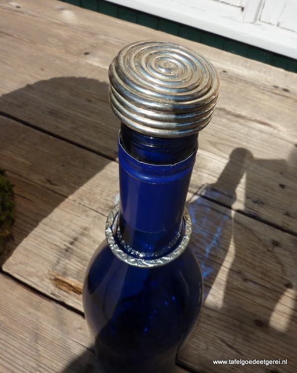 Wijnfles stop verzilverd