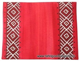 Placemat red geometric