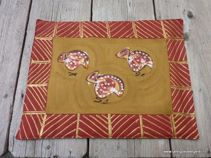 Placemat guinea fowl
