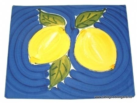 Placemat blue lemon