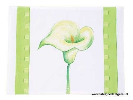Placemat lily lime
