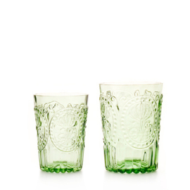 Van Verre Fleur de Lys Fijnzinnig glaswerk wijn/waterglas S green