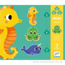 """Djeco Pirmo puzzel """"in de zee"""" 2+"""
