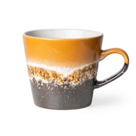 HKliving | 70's Ceramic Cappucino mug | Fire