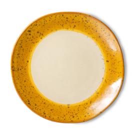HKliving | 70s ceramics: side plate | ontbijtbord | Autumn