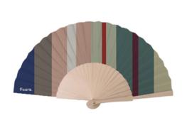 Fisura - Fan wood en textile - Stripes