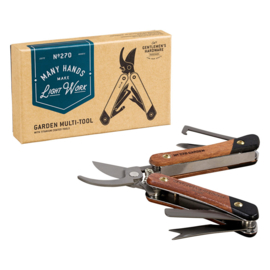 Gentlemen's Hardware Garden Multi-Tool Acacia wood & Titanium Finish