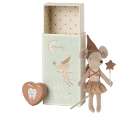 Maileg Tooth fairy mouse in matchbox Rose | Tandenfee met rose tandendoosje