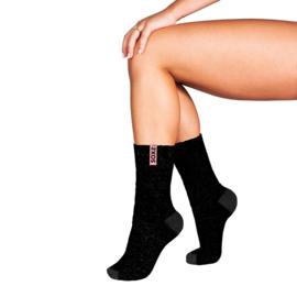 Soxs Woman Parisian Black half high | vrouwen sokken zwarti maat 37-41
