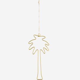 Madam Stoltz Hanging palm 11x23 cm shiny gold