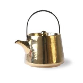 HKliving Bold&Basic ceramic teapot Gold