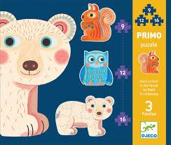 "Djeco Primo puzzel ""in het bos"" 3+"