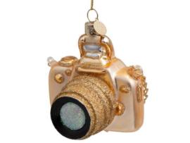 Vondels Ornament glas goud camera