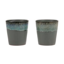 HKliving Ceramic 70's mug Moss