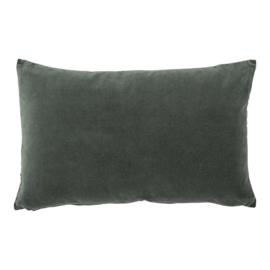 Urban Nature Culture Cushion Vintage Velvet Lilypad   fluwelen kussen vintage groen