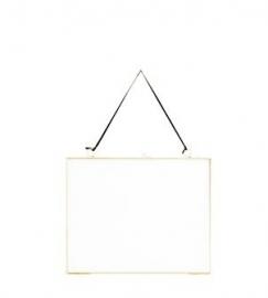 Madam Stoltz fotolijst hangend liggend 20 x 25 cm brass / messing
