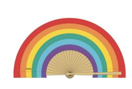 Fisura - Fan wood en textile - Rainbow