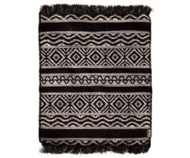 Maileg Miniature rug Black | Vloerkleed zwart wit