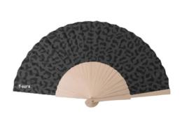 Fisura - Fan wood en textile - Cheetah black