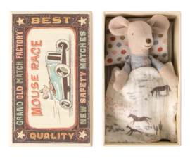 Maileg Little Brother Mouse in Matchbox | kleine broer in luciferdoosje