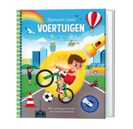 """Zoek- en Voorleesboek """"Speuren naar voertuigen"""""""