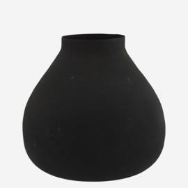 Madam Stoltz Vaas ijzer mat zwart