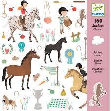 """Djeco Stickers """"Horses"""""""